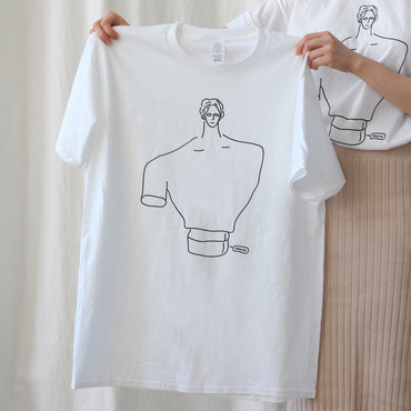 석고상 티셔츠 / Plaster cast T-shirt